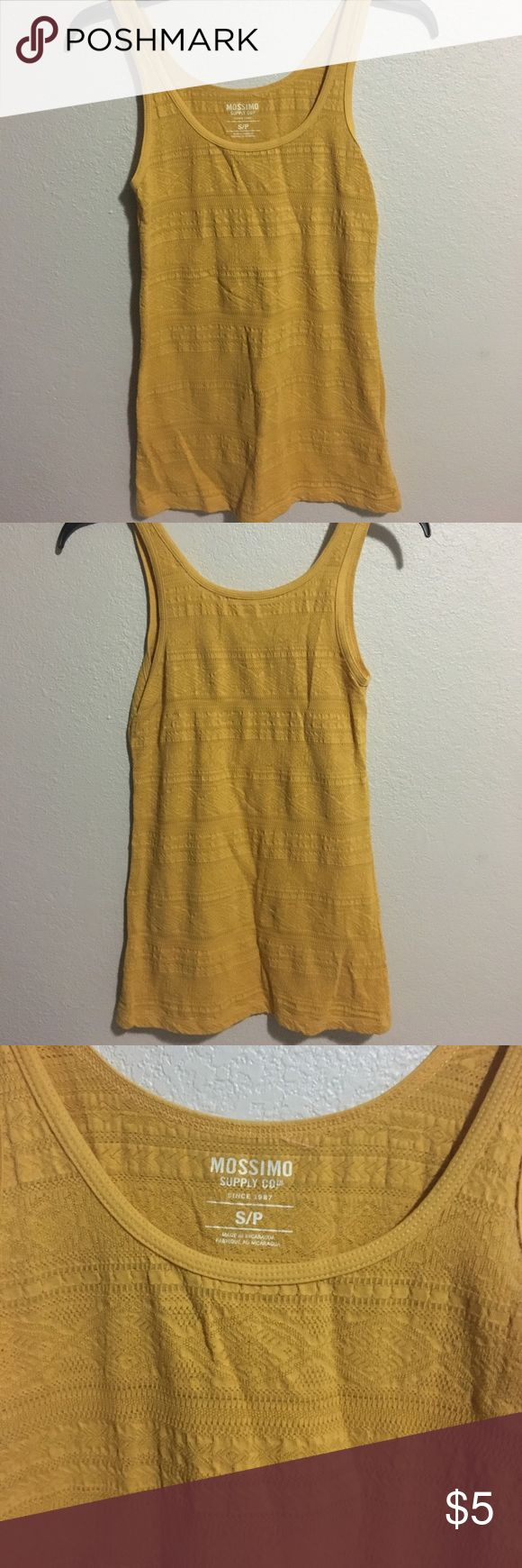 Yellow tank top Yellow tank top with triangular and arrow pattern from target Mossimo Supply Co. Tops Tank Tops