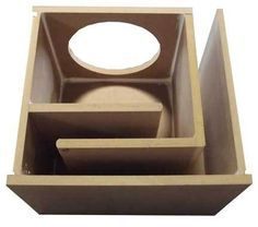 "Obcon Single 12"" Labyrinth Slot Vent Port 1"" MDF Subwoofer Speaker Box Enclosure"