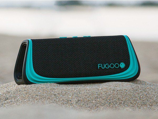 Fugoo - Go Anywhere Speakers - Waterproof, mud proof, and able to survive falls. These super tough Bluetooth speakers give 40 hours of 360° sound on a single charge.
