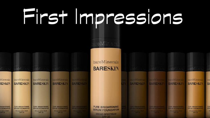 FIRST IMPRESSIONS | BARE MINERALS BARE SKIN LIQUID FOUNDATION | REVIEW &...
