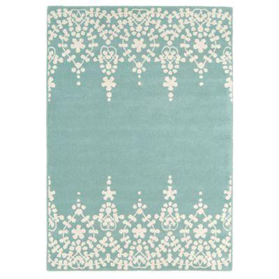 Debenhams Blue wool 'Guild' rug- at Debenhams.com