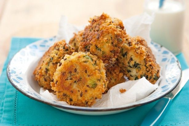 These tasty tuna patties make a great after school snack for the kids.