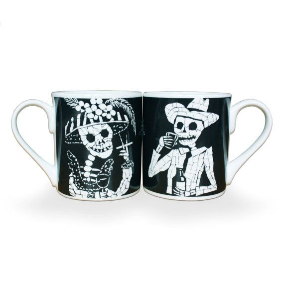 Fine Bone China Day of the Dead mugs, Juan is Dead £22