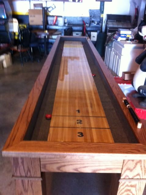 making a shuffleboard table i like the alley way like bowling i think it will be 7337