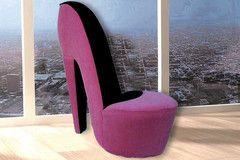 Pink MINI Size Shoe Shape Chair | Morning Furniture