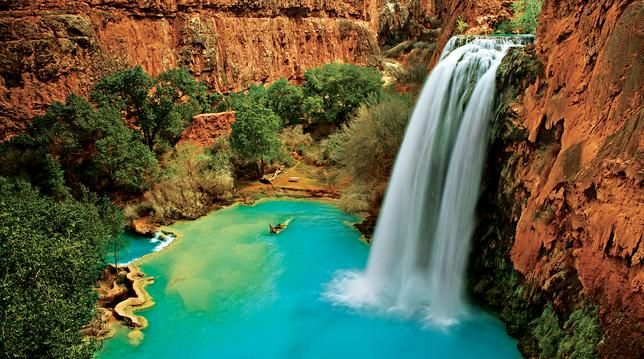 turquoise pools of the Grand Canyon