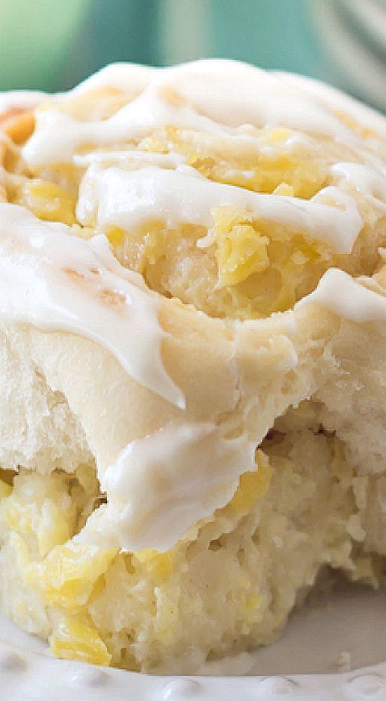 Pineapple Cream Cheese Sweet Rolls