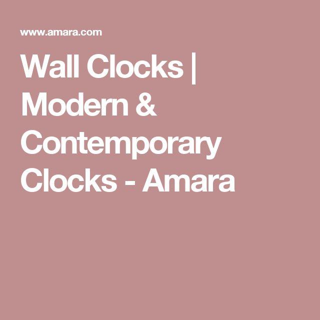Wall Clocks | Modern & Contemporary Clocks - Amara