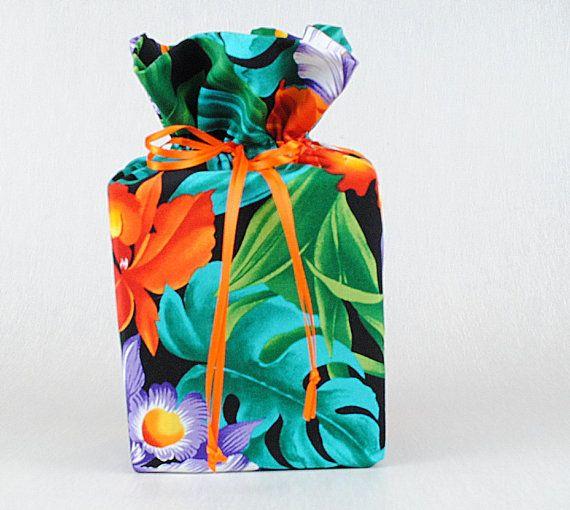 Hawaiian Tissue Box Cover Tropical Tissue Box by mariascraft