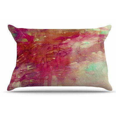 East Urban Home Ebi Emporium 'Carnival Dreams 4' Pillow Case Color: Red/Beige