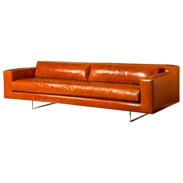 25 best ideas about orange leather sofas on pinterest