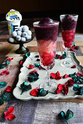 とっても簡単でちょっぴり贅沢な秋カクテル ICEBOXに赤ワインと巨峰のフローズンを入れて。。。|レシピブログ