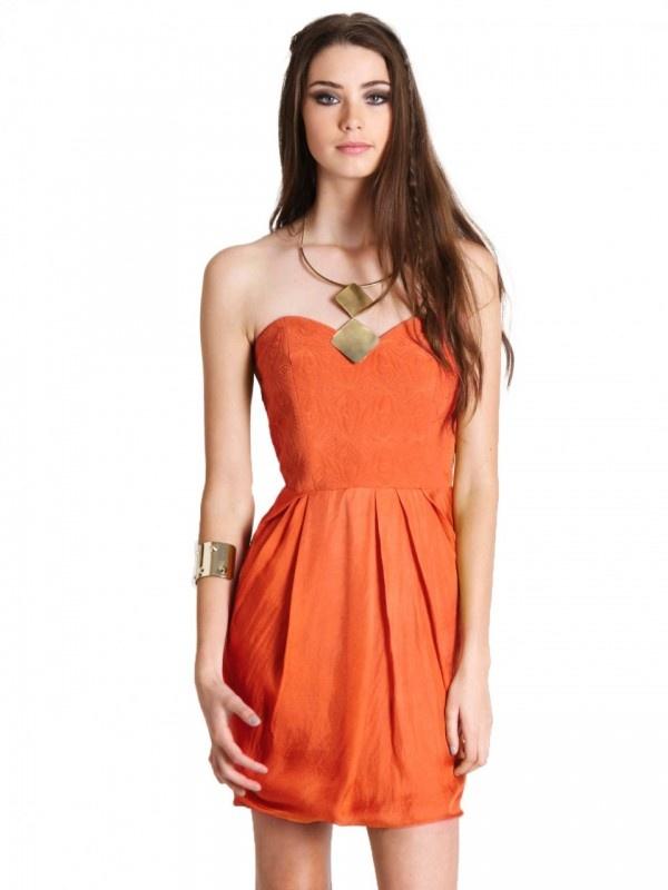 Lariat Dress by WISH in orange  Now: $179.95 #summer #parties #dress