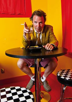 The lurid colours in this photo are suitably offensive for Doug Stanhope
