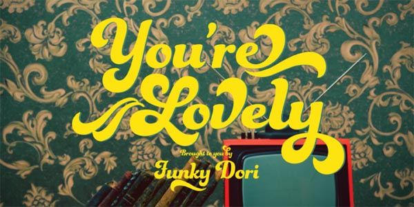 Funkydori Font - Retro 60s/70s Typeface by Laura Worthington