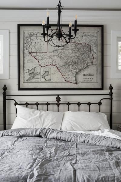 Texas Map : Weathered Vintage Map of Texas - c. 1800's