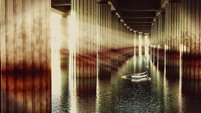 Huelva Bridge by russcript from blenderartists.org