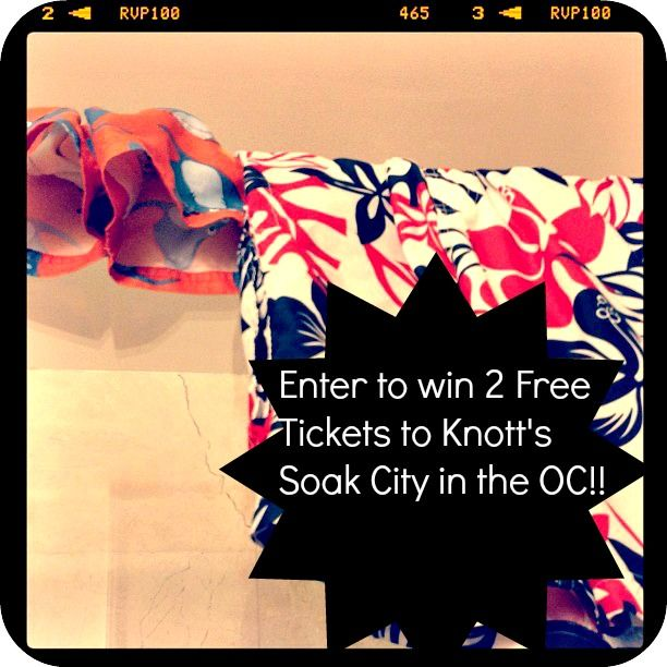 Enter to win 2 Free Tickets to Knotts Soak City in the OC!!