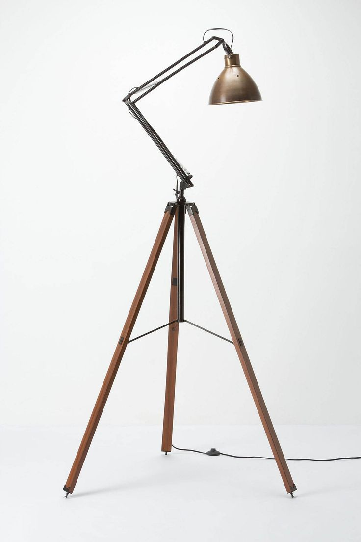 Architect Tripod Lamp / Anthropologie.com: Lights, Lamps Modern, Anthropology, Tripod Lamps, Modern Industrial, Bar Stools, Industrial Design, Architects Tripod, Modern Floors Lamps