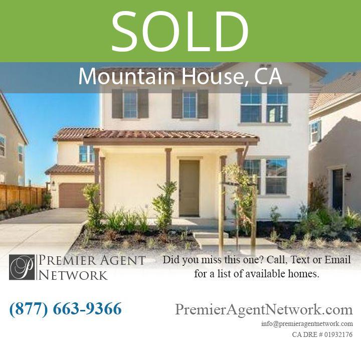 Sold 1417 S Durant Terrace Mountain House Ca 95391 Mountain House Terrace House