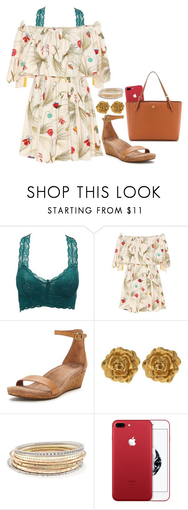 """""""got a prom date y'all """" by legitimately-kierstin ❤ liked on Polyvore featuring Charlotte Russe, Fendi, UGG, Liberty, Kendra Scott and Tory Burch"""