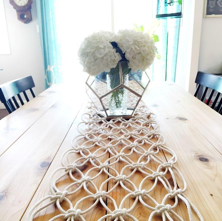 DIY Macrame Table Runner - The Urban Acres