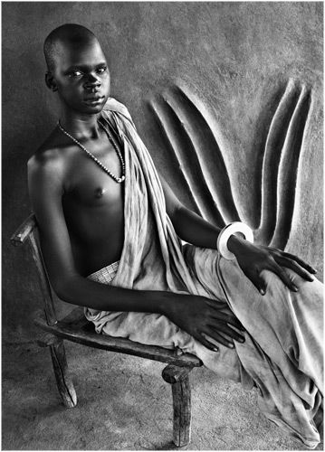 Salgado, Dinka in traditional house, Southern Sudan, 2006. #Africa #African #Dinka: