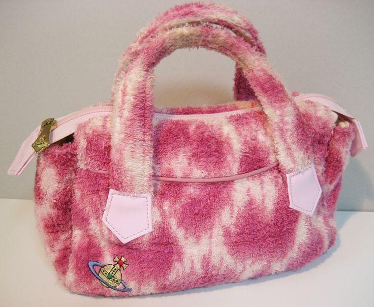 90's vintage Vivienne Westwood terrycloth handbag