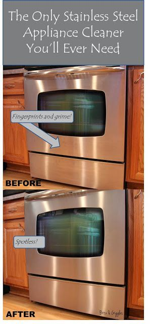 The Only Stainless Steel Appliance Cleaner You'll Ever Need! OMG how they sparkle!