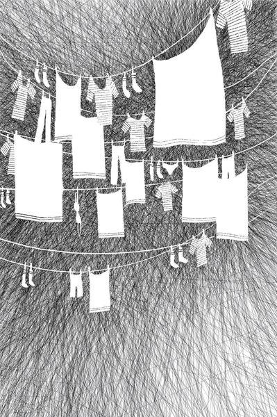 Les Dessins Du Dimanche, 2013. Projet collaboratif, dessins numérique ou broderies. Les DDD, Villinge.