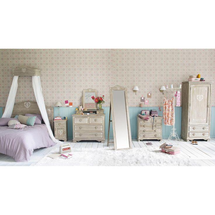chambre avec la collection camille de maison du monde ciel de lit