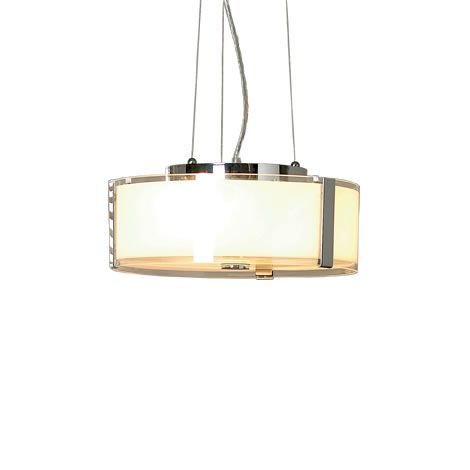 Endon Lighting Circular Opal Glass Pendant with Adjustable Suspension Cables A