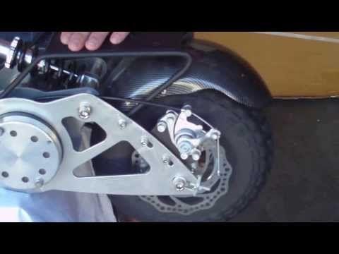 ▶ NEW 2014 Super Turbo 1200 watt Electric Motor Scooter, 34mph - YouTube