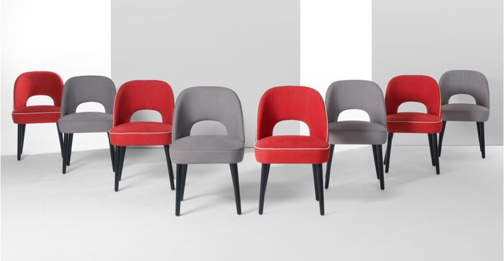 Rory Dining Chair, Coral Red | made.com