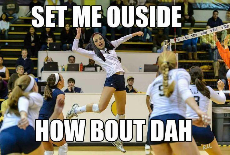 Ich Bin Mir Ziemlich Sicher Dass Dieses Meme In Absehbarer Zeit Nicht Verschwinden Wird Guthabe Volleyball Humor Volleyball Workouts Volleyball Inspiration