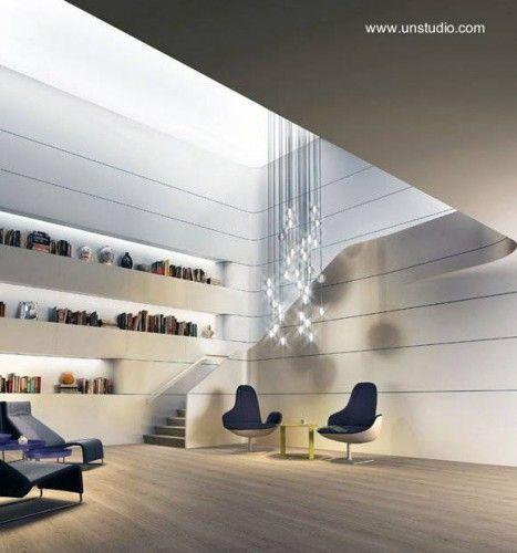 Sala de loft ultramoderno