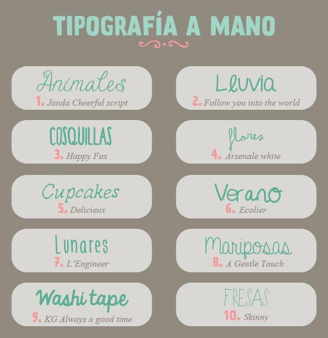 recursos molongos: 30 tipografías a mano