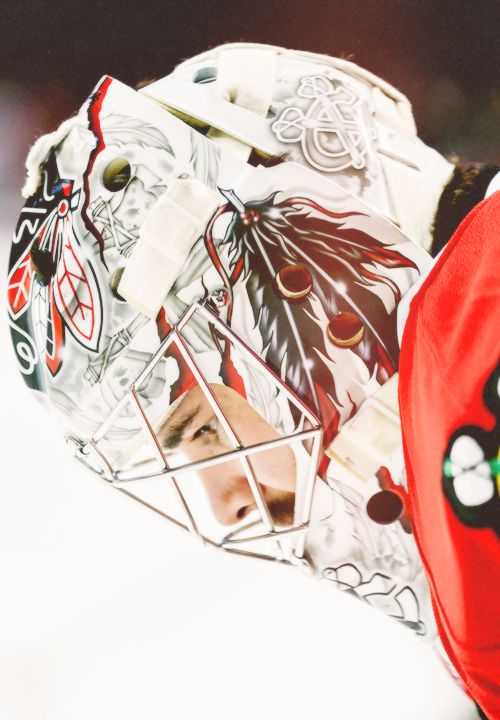 Corey Crawford, Chicago Blackhawks (Source: seabrooks)  #chicago #sharkcity #entertainment