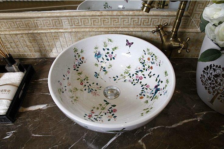 Aliexpress.com : Acquista Fatti a mano in porcellana lavello birds &amp…