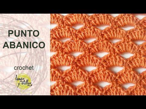 Tutorial Punto Abanico Crochet o Ganchillo - YouTube