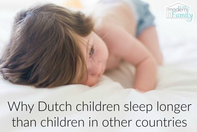 A Dutch mother gives her insight into Why Dutch children sleep longer than children in other countries.