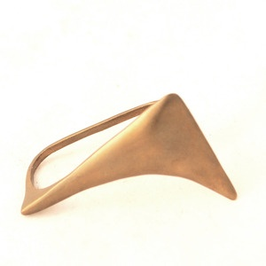 Double Finger Flexion Ring by Lillian Crowe $110