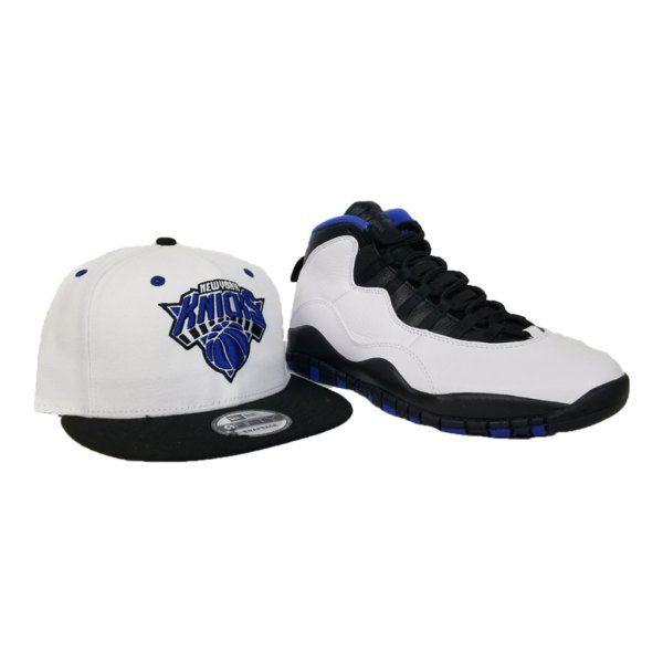 dd10539cd6a61 Matching New Era New York Knicks Snapback hat for Jordan 10 Orlando ...