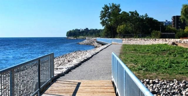 Mimico waterfront boardwalk