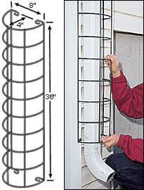 Downspout Trellis is an attractive way to hide downspouts.: