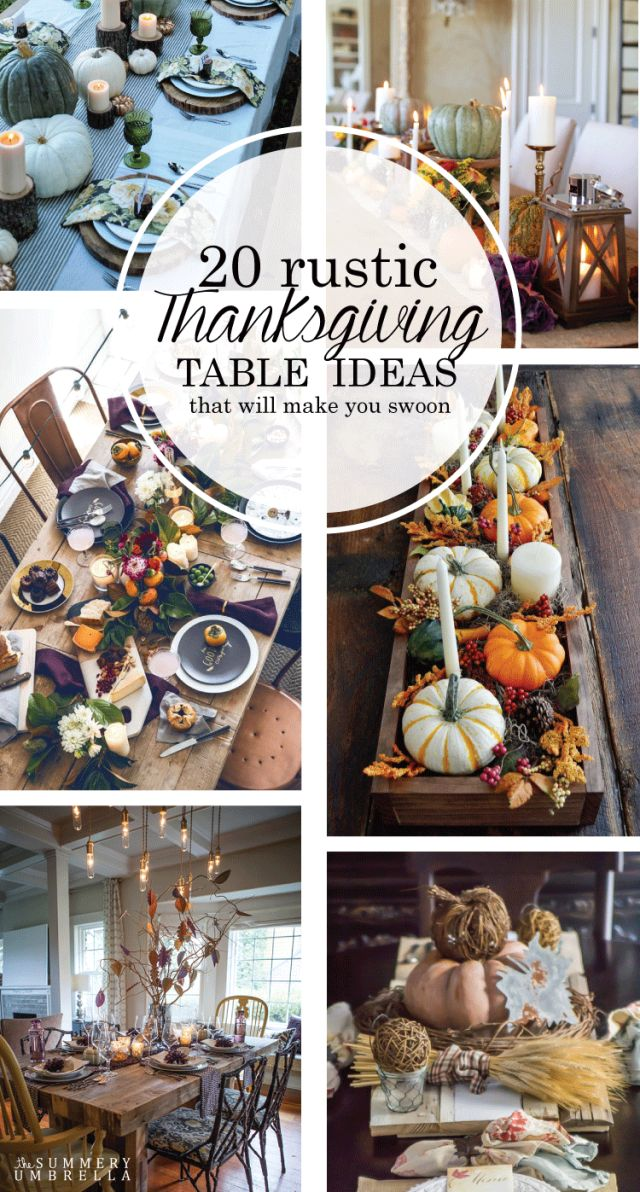 Looking for table decor inspiration for your Thanksgiving gathering? Then check out these 20 Rustic Thanksgiving Table Ideas that will make you swoon!