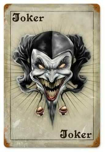 The Joker Card Metal Sign 12 x 18 Inches