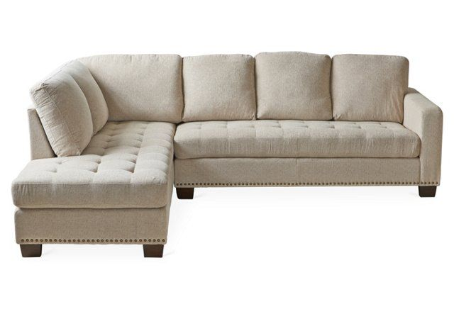 Athena Tufted Sectional, Beige