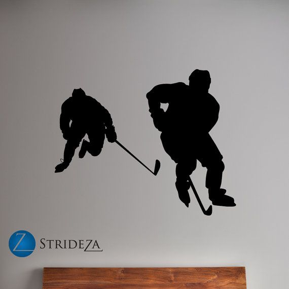 Hockey wall decal hockey decor hockey art hockey players
