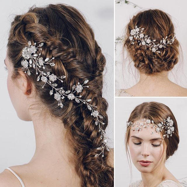 Wedding Inspiration from debbiecarlisle.com There are so many ways to wear a hair vine ... for more ideas follow the link in my profile (This is Scarlett and she's one of my favourites!) x